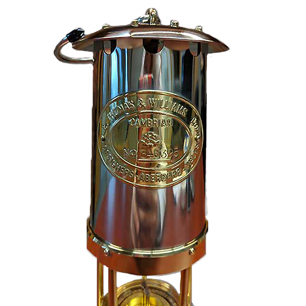 Traditional Miner Lamp Solid Brass