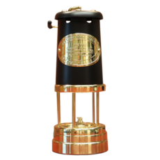Welsh Replica Miner Lamp w Black Chimney R400-BL