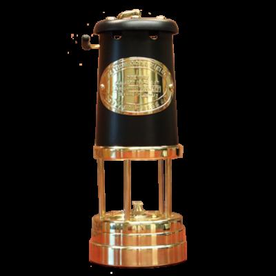Welsh Replica Miner Lamp w Black Chimney R400-BL