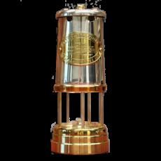 Welsh Replica Miner Lamp Brass w Nickle Effect Chimney R-400N