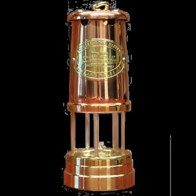Welsh Replica Miner Lamp Brass w Copper Chimney R400-C