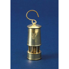 Welsh Replica Ornamental Small Miner Type Lamp – All Brass
